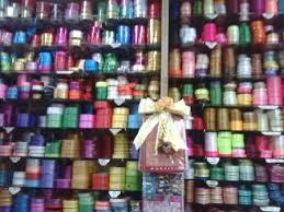 ribbon shop satin ribbon roses sold in a supply store in petaling jaya