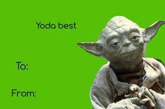 yoda valentines card yoda one for me my fave valentines day card day