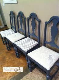 Refinish Dining Chairs Bye Bye Brown Bonjour Blue A Chair Makeover Chair Makeover