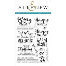 altenew clear sts happy holidays hutson llc hutson