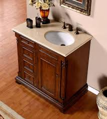 silkroad 36 inch antique single sink bathroom vanity cream marfil