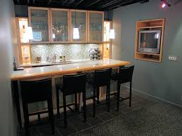 Bar Decorating Ideas For Home by Grey Basement Bar Interior Themed With Pleasant Tv Wall Units And