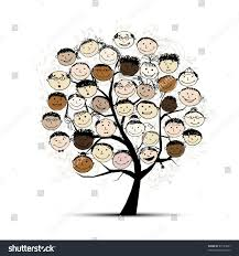 tree people faces your design stock vector 87121681 shutterstock