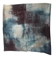 west elm painterly textured silk pillow cover chairish