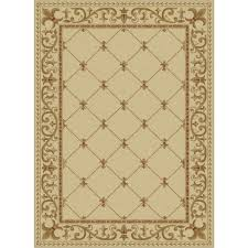 Fleur De Lis Area Rug Tayse Rugs Sensation Ivory 8 Ft 9 In X 12 Ft 3 In Traditional