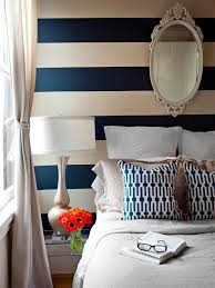 Tan And White Horizontal Striped Curtains Design Trend Decorating With Blue Stripes Accent Walls And