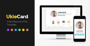 Free Resume Html Template Ukiecard Personal Vcard U0026 Resume Html Template Virtual Business
