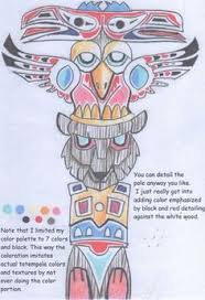 totem pole atc 700 art native american art pinterest