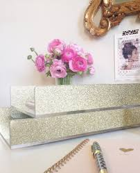 Desk Accessory Set by New Letter Tray Acrylic Gold Glitter Desk Accessories Made In Usa