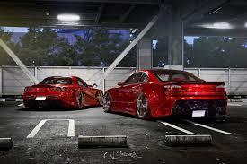 nissan red car nissan silvia s15 mazda rx 7 tuning red car rx7 tuning hd wallpaper