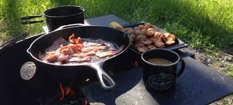 Cooking Over Fire Pit Grill - how to cook breakfast over a campfire like a pro