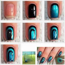 peacock nail art design tutorial entertainment news photos