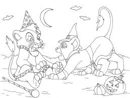 Halloween Coloring Pages Online by Print The Lion King Halloween Coloring Pages Or Download The Lion