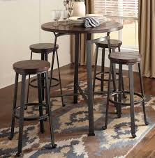 Pub Table And Chairs Set Round Metal U0026 Wood Pub Set Chicago Furniture Stores
