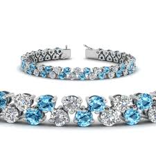 blue topaz bracelet white gold images 5 30 carat diamond tennis bracelet women in 14k yellow gold jpg