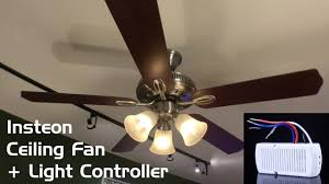 Cost Of Ceiling Fan Installation Install U0026 Review Insteon Ceiling Fan U0026 Light Controller Youtube