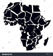 Map Of Africa With Countries by Black Map Africa Separated Countries Stock Vector 171532664