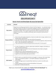 Architectural And Engineering Managers Job Description Qineqt Inc Linkedin