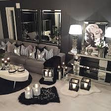The  Best Silver Living Room Ideas On Pinterest Entrance - Black and white living room decor