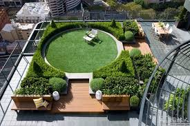 Roof Garden Design Ideas Rooftop Garden Design Ideas With Wooden Decking Photo 1823