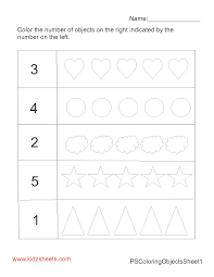 kidz worksheets preschool count u0026 color worksheet1