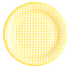 yellow gingham paper plates gingham plates and napkins set to