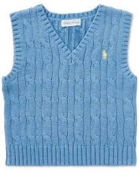 ralph cable knit cotton sweater vest baby boys sweaters