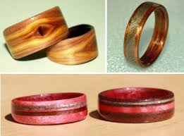touch wood rings wooden wedding bands the