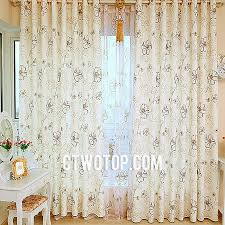 Green Burlap Curtains Shabby Chic Cheap Floral Beautiful Patterned Beige Burlap Curtains
