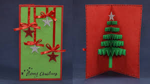 handmade pop up christmas greeting card how to diy tutorial