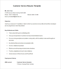 customer service resume template u2013 8 free samples examples