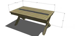 free diy furniture plans to build a rustic outdoor table with