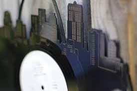 personalized record album chicago skyline vinyl wall updated vinylshop us