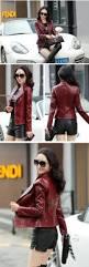 fall motorcycle jacket genuine leather jacket women spring fall korean black leather