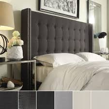 Full Size Headboards by Marion Nailhead Wingback Button Tufted Full Size Headboard By
