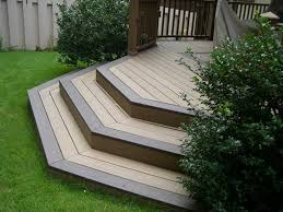 composite deck stair treads u2014 railing stairs and kitchen design