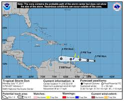Weather Florida Map by Tropical Storm Don Forms In The Caribbean Monday Miami Herald