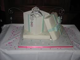 engagement ring box with diamond cake and wires cakecentral com