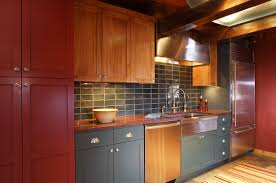 Red Birch Kitchen Cabinets Log Cabin Kitchen Cabinets