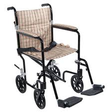 drive flyweight lightweight transport wheelchair with black frame