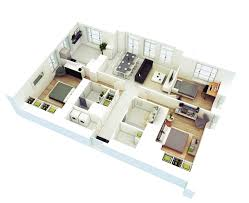 3d Office Floor Plan Download Floor Plan 3 Bedroom Bungalow House Home Intercine