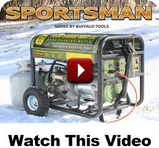 buffalo corp sportsman generators