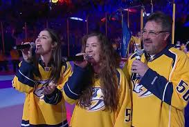 dierks bentley daughter vince gill performs national anthem at predators game with daughters