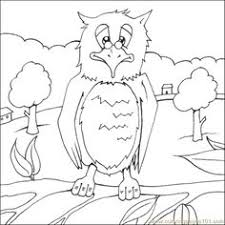 horned owl printable coloring page for kids and adults coloring