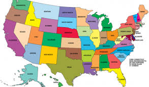 us map states by color united states map interactive detail color map of usa with name