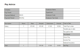 efficient template example of salary slip with table format of pay