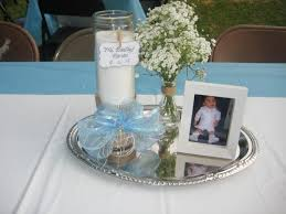 Baptism Decorations Boy Cute Homemade Baptism Centerpieces Dusty Blue Weddings Wedding