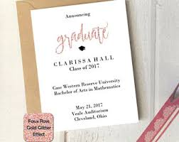graduation announcements template grad announcement etsy