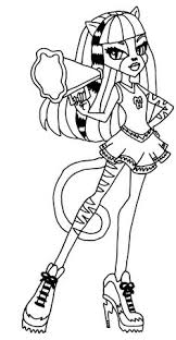 monster hair flowing coloring pages monster