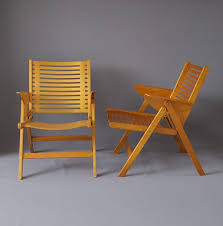 vintage foldable rex chairs by niko kralj for stol set of 2 for